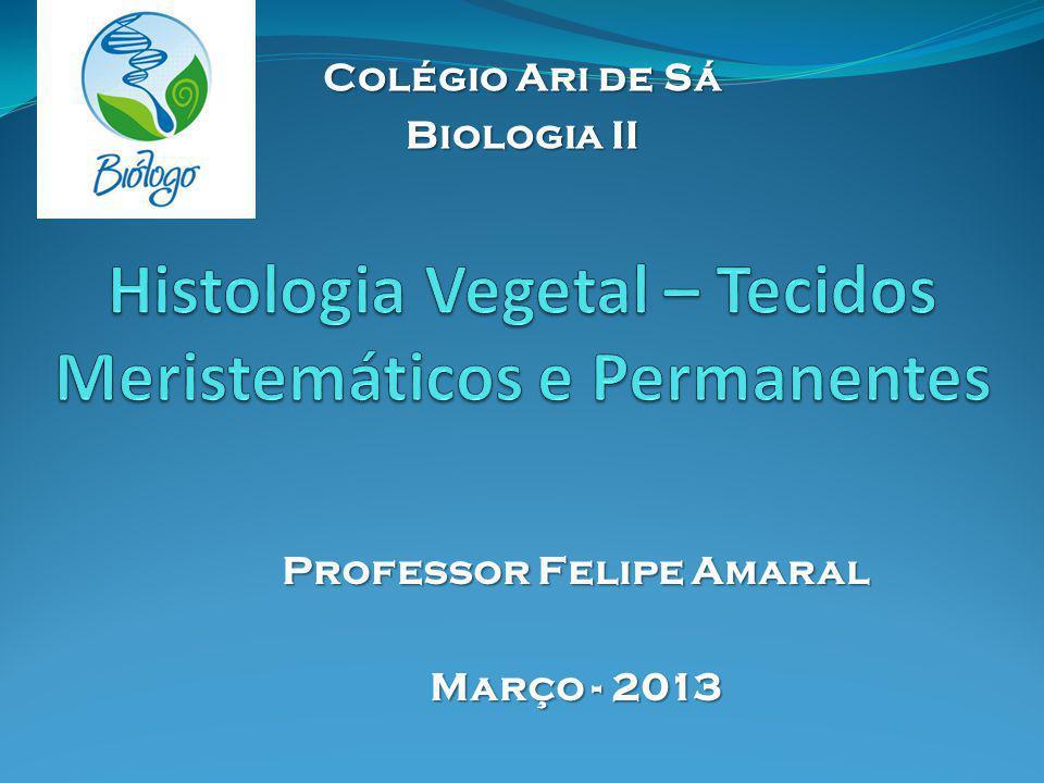 Professor Felipe Amaral Março - 2013 Colégio Ari de Sá Biologia II