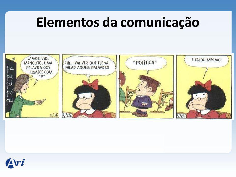 Nessa tirinha da Mafalda, reparem que a professora, o Manolito e a Mafalda estão em uma sala de aula, constituindo o contexto ou referente da mensagem.
