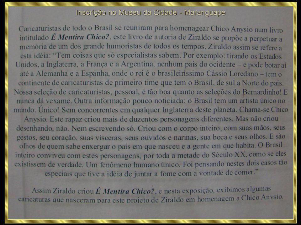 Inscrição no Museu da Cidade - Maranguape