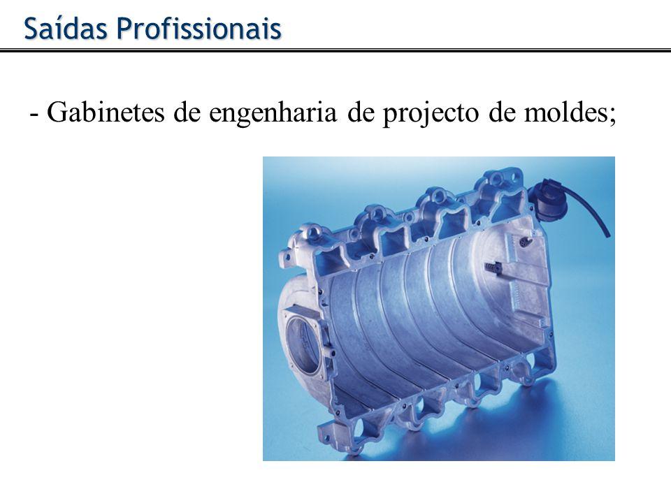 - Gabinetes de engenharia de projecto de moldes; Saídas Profissionais
