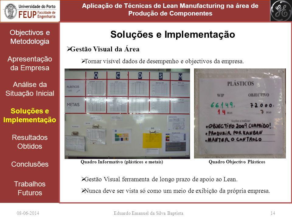 08-06-2014Eduardo Emanuel da Silva Baptista 14 Objectivos e Metodologia Apresentação da Empresa Análise da Situação Inicial Soluções e Implementação R