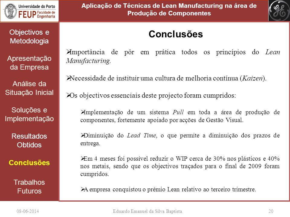 08-06-2014Eduardo Emanuel da Silva Baptista 20 Objectivos e Metodologia Apresentação da Empresa Análise da Situação Inicial Soluções e Implementação R