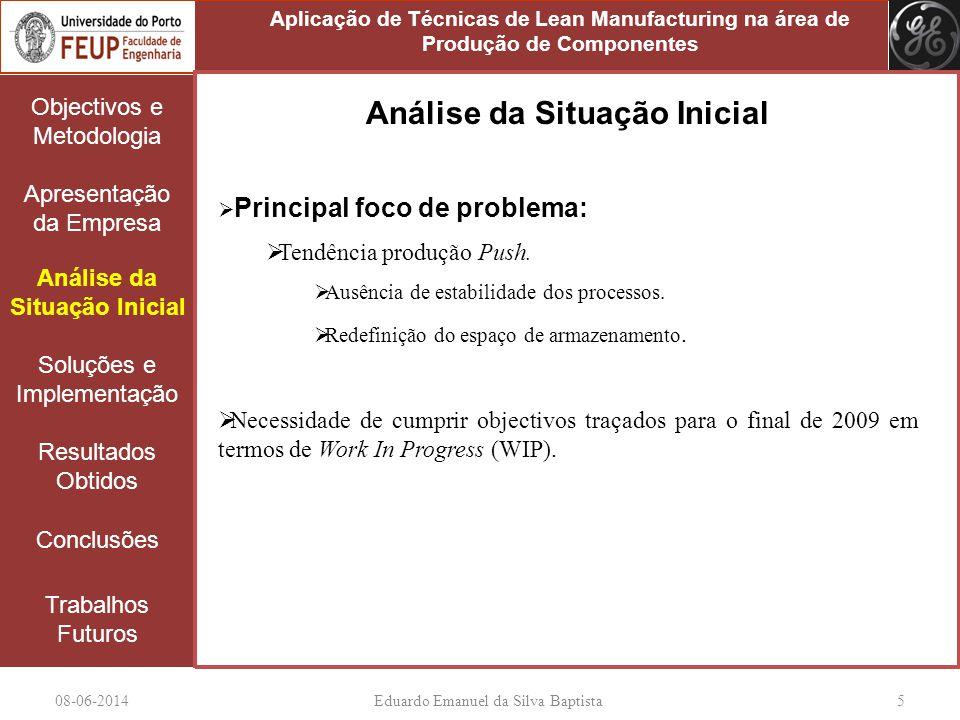 08-06-2014Eduardo Emanuel da Silva Baptista 5 Objectivos e Metodologia Apresentação da Empresa Análise da Situação Inicial Soluções e Implementação Re