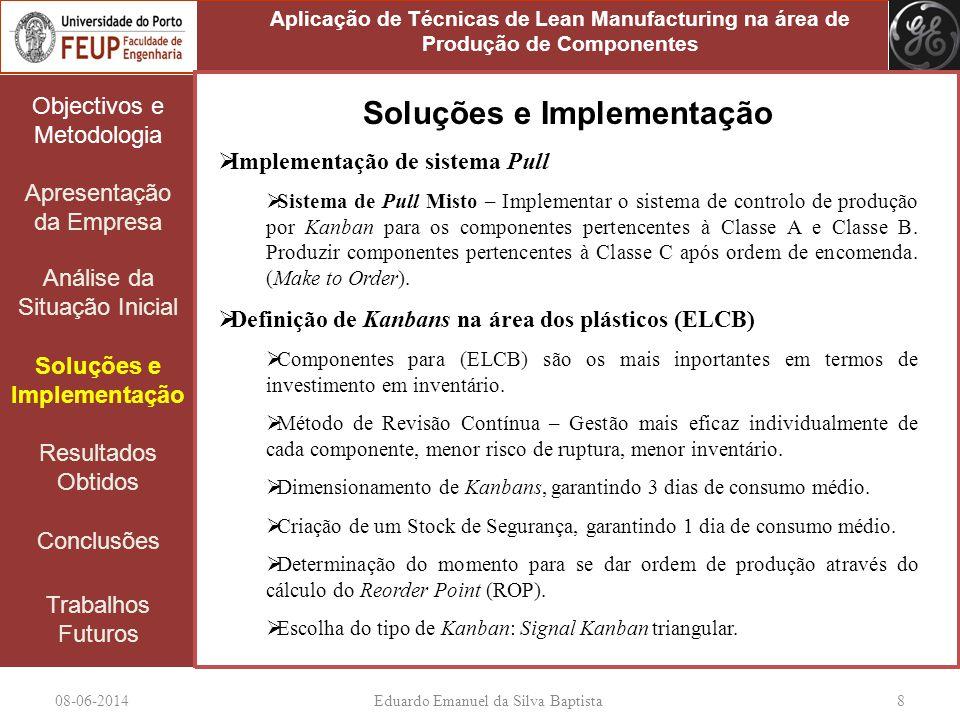 08-06-2014Eduardo Emanuel da Silva Baptista 8 Objectivos e Metodologia Apresentação da Empresa Análise da Situação Inicial Soluções e Implementação Re