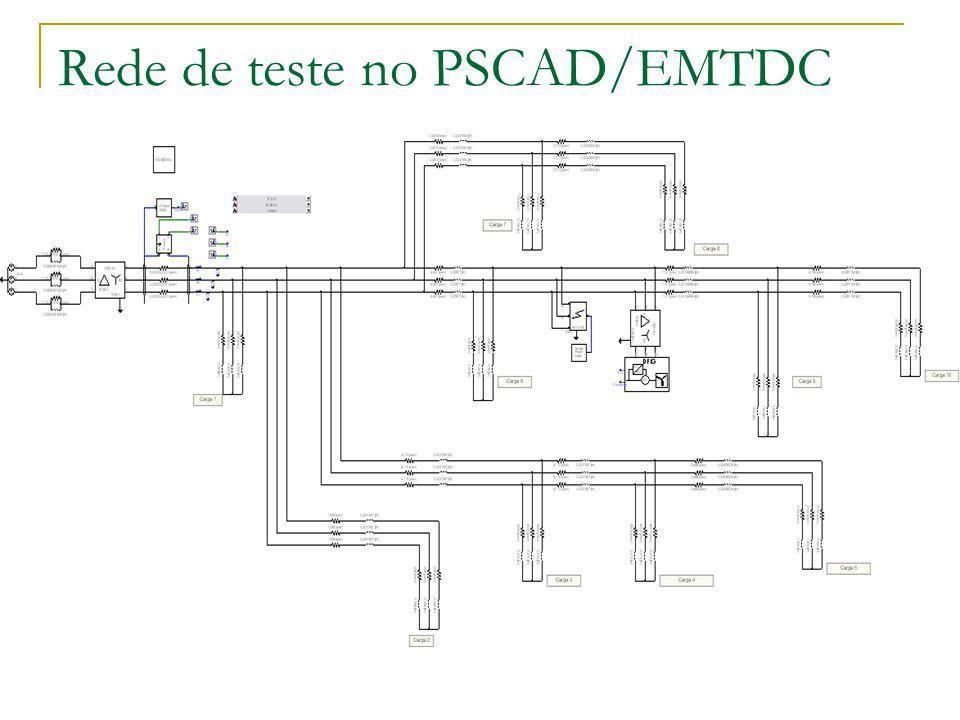 Rede de teste no PSCAD/EMTDC
