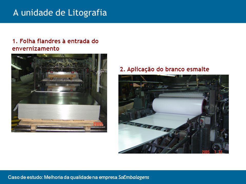 Caso de estudo: Melhoria da qualidade na empresa SoEmbalagens A unidade de Litografia 1.