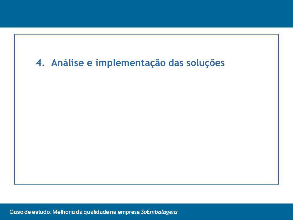 Caso de estudo: Melhoria da qualidade na empresa SoEmbalagens 4.