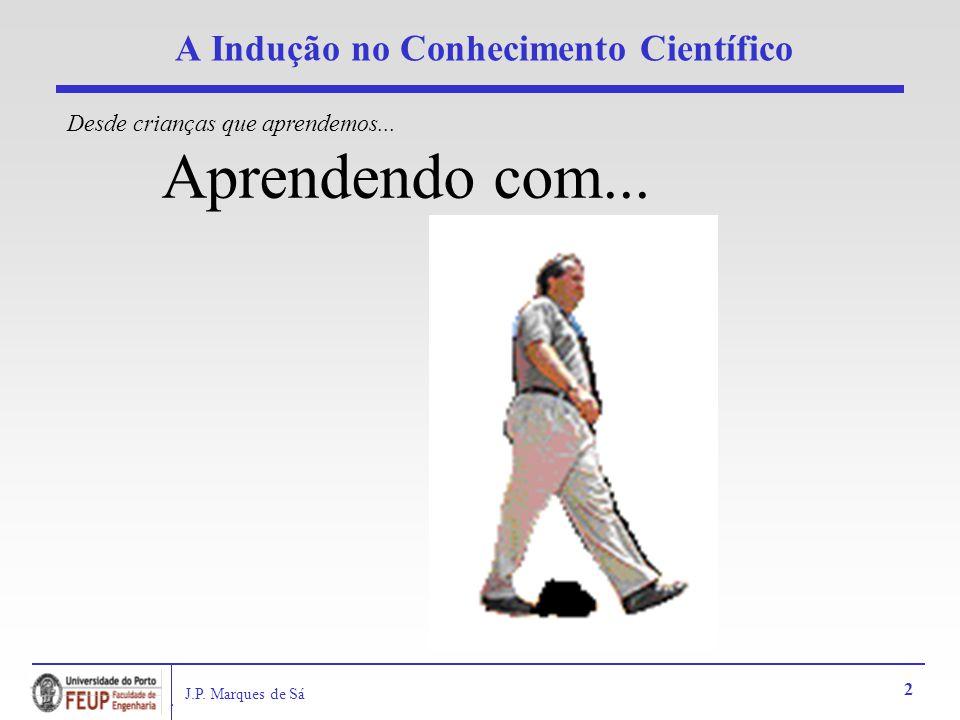 J.P. Marques de Sá 2 A Indução no Conhecimento Científico Aprendendo com... Desde crianças que aprendemos...