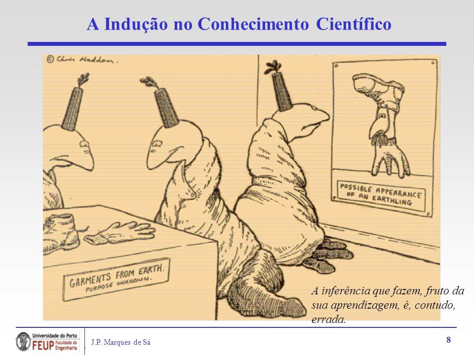 J.P. Marques de Sá 8 A Indução no Conhecimento Científico A inferência que fazem, fruto da sua aprendizagem, é, contudo, errada.
