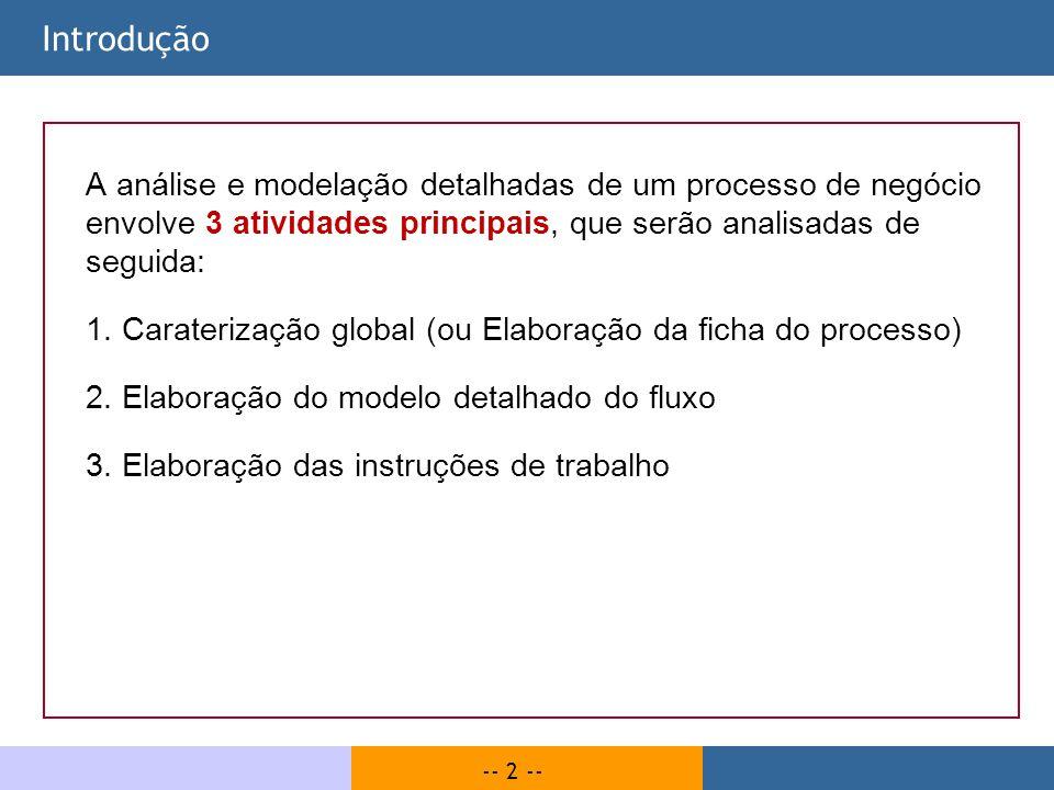 -- 83 -- Métodos de modelação | Síntese Modelos do tipo Fluxograma: Permitem uma maior liberdade na disposição dos elementos gráficos do modelo.