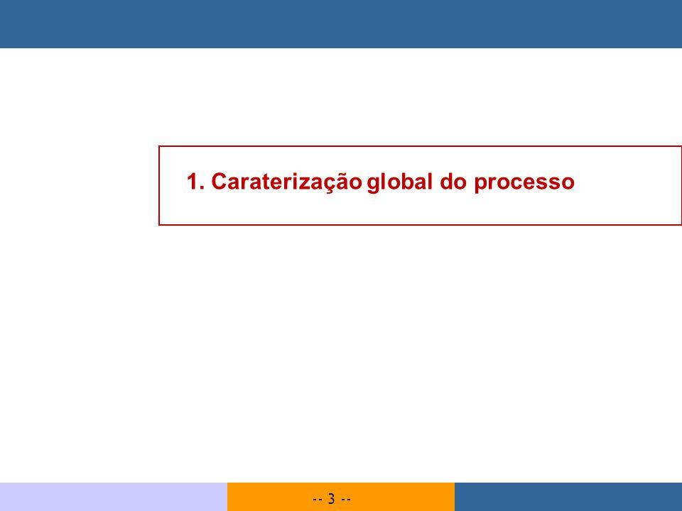 -- 3 -- 1. Caraterização global do processo