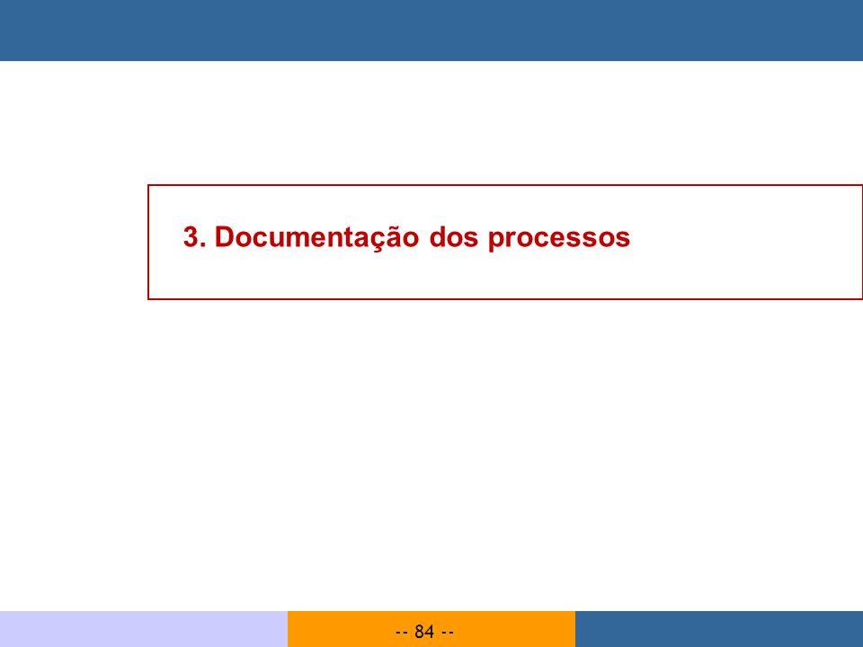 -- 84 -- 3. Documentação dos processos