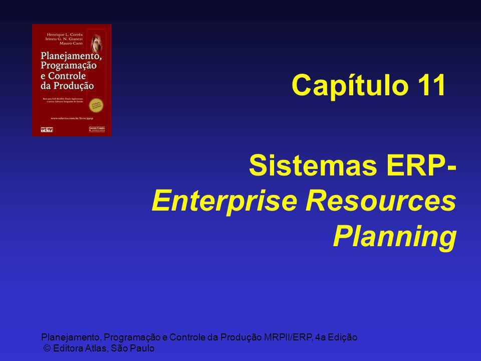 Planejamento, Programação e Controle da Produção MRPII/ERP, 4a Edição © Editora Atlas, São Paulo Sistemas ERP- Enterprise Resources Planning Capítulo