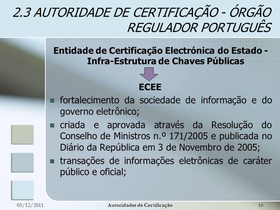 Entidade de Certificação Electrónica do Estado - Infra-Estrutura de Chaves Públicas ECEE fortalecimento da sociedade de informação e do governo eletrô