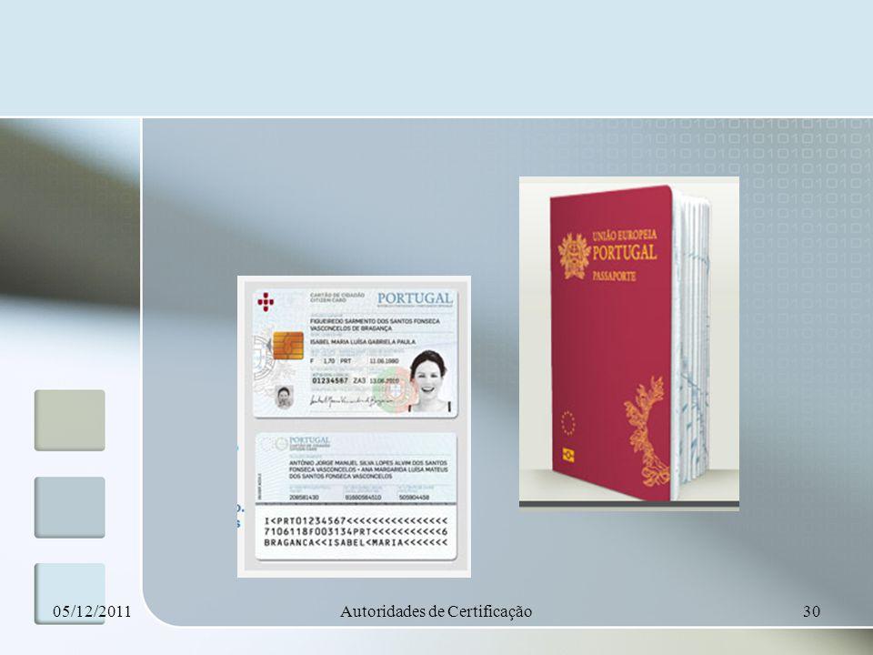 05/12/2011Autoridades de Certificação30