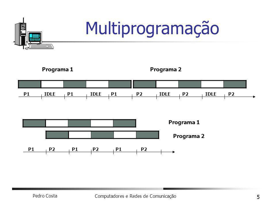 Pedro Costa Computadores e Redes de Comunicação 6 Sistemas operativos em rede Login Network File System (NFS) Network Information Systems (NIS) Servidor Clientes LAN
