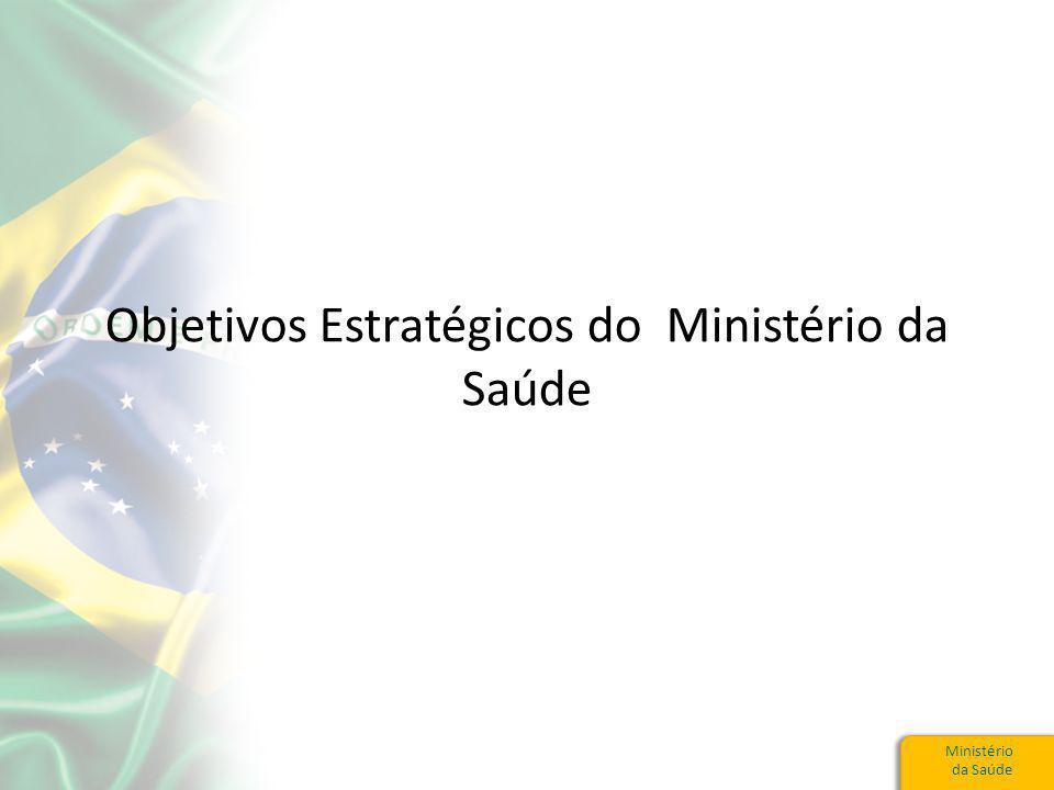 Ministério da Saúde Objetivos Estratégicos do Ministério da Saúde