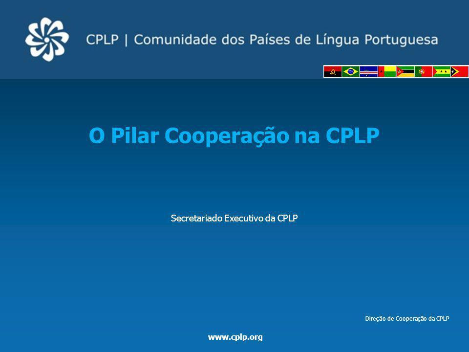 www.cplp.org Cooperação na CPLP Projetos constantes do PIC Memória de Projetos concluídos (exemplos) Pr23/GB/06Bolsas CADAPi – 1ª fase / Curso de Alta Direção em Administração Pública para Alunos dos PALOP e Timor-Leste 40.000,00 Pr24/LB/07Formação e Implementação de Metodologias para a Conservação da Biodiversidade e Gestão de Áreas Protegidas 45.000,00 Pr25/LIS/07Educação Ambiental na CPLP no Marco da Década da Educação para o Desenvolvimento Sustentável (Salas Verdes) 126.705,00 Pr26/LB/07Bolsas CADAPi – 2ª fase / Curso de Alta Direção em Administração Pública para Alunos dos PALOP e Timor-Leste 40.000,00 Pr27/LB/08Programa de Capacitação dos Laboratórios de Engenharia PALOP 203.836,00 Pr28/LB/08Biblioteca Móvel de Enfermagem em Português15.085,93 Pr29/LB/08Curso de Aperfeiçoamento para Técnicos de Futebol115.963,91 Pr29/LB/08Programa para a Implementação de Bancos de Leite Humano 151.957,08 Pr31/LB/08 Curso sobre Gestão do Ciclo do Projeto de Cooperação Técnica (ProCTI-MCP) 94.472,00 Pr32/LB/08 Conferência Internacional infantojuvenil pelo Meio Ambiente: uma contribuição para o Programa de Educação Ambiental da CPLP – 1ª Fase 440.000,00 Pr33/LB/08I Mostra de Cinema e Audiovisual da CPLP 20.497,66 Pr34/LB/08 Conceção e Edição de Manuais de Aprendizagem de Leitura, Escrita e Aritmética para Distribuição Gratuita nos Países Africanos de Língua Portuguesa e em Timor-Leste – Fase I – Cartilha de Leitura Escolar 91.947,00 Pr35/LB/08O Microcrédito como Forma de Luta contra a Pobreza – Reforço e Capitalização de Boas Práticas 92.438,00 Pr36/LB/08Programa de Capacitação dos Laboratórios de Engenharia dos PALOP – Fase II 202.258,67 Pr37/PRA/09Meninos de Rua: Inclusão e Inserção (Voz de Nós: Crianças de Rua Protagonistas dos seus Direitos) 142.295,50 Pr38/LB/10 Projeto de Cooperação sobre Reforço de Capacidades em matéria de Avaliação de Impacto Ambiental e Avaliação Ambiental Estratégica dos serviços públicos nos PALOP e Timor-Leste 57.817,97 Pr39/LDA/10Programa de Capaci