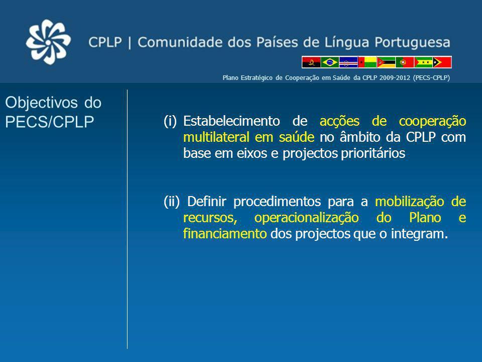 Plano Estratégico de Cooperação em Saúde da CPLP 2009-2012 (PECS-CPLP) (i)Estabelecimento de acções de cooperação multilateral em saúde no âmbito da C