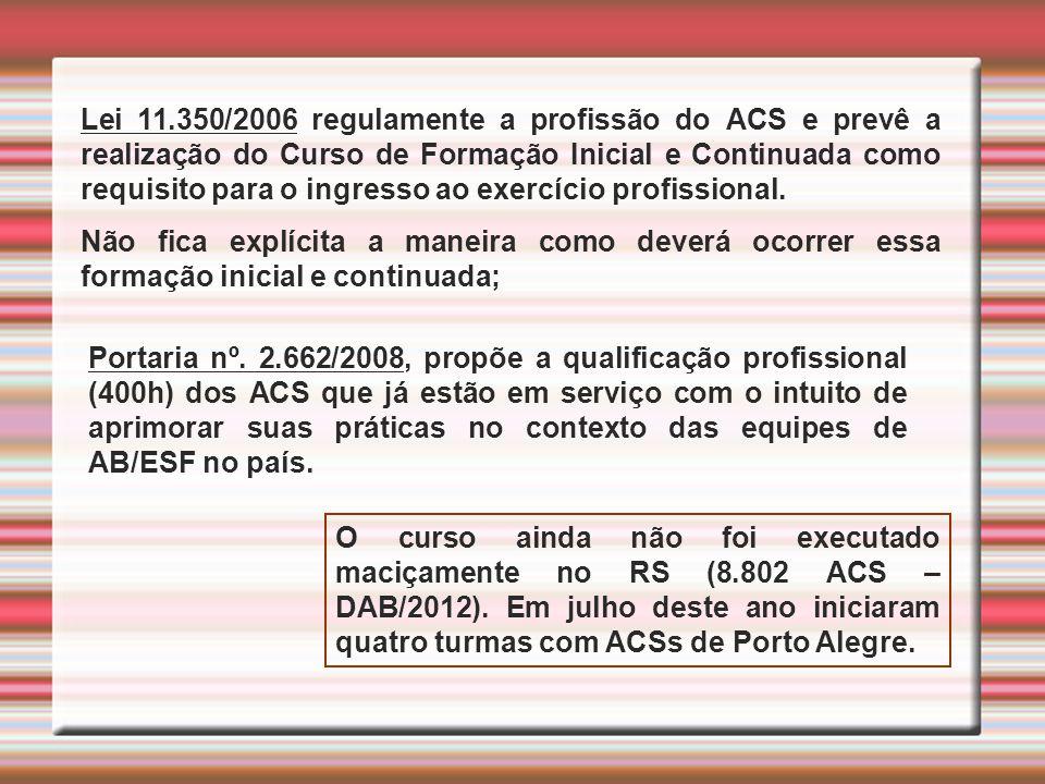 Analisar a proposta de qualificação profissional do ACS no estado do RS.