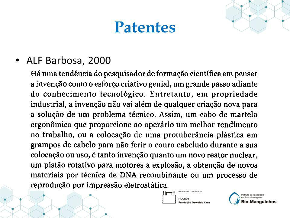 Patentes ALF Barbosa, 2000
