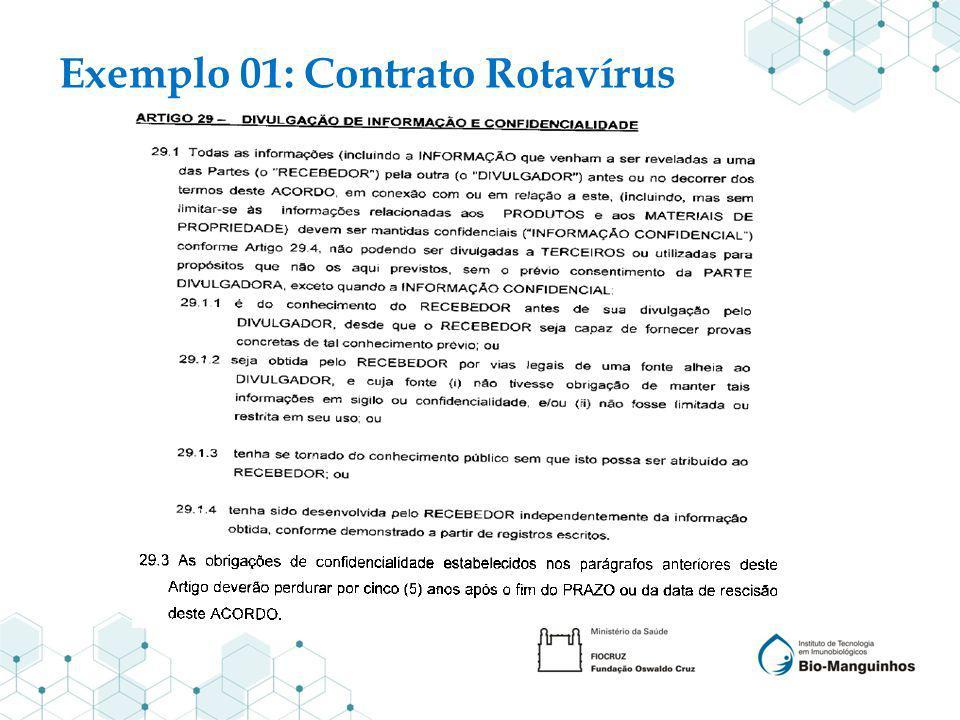 Exemplo 01: Contrato Rotavírus