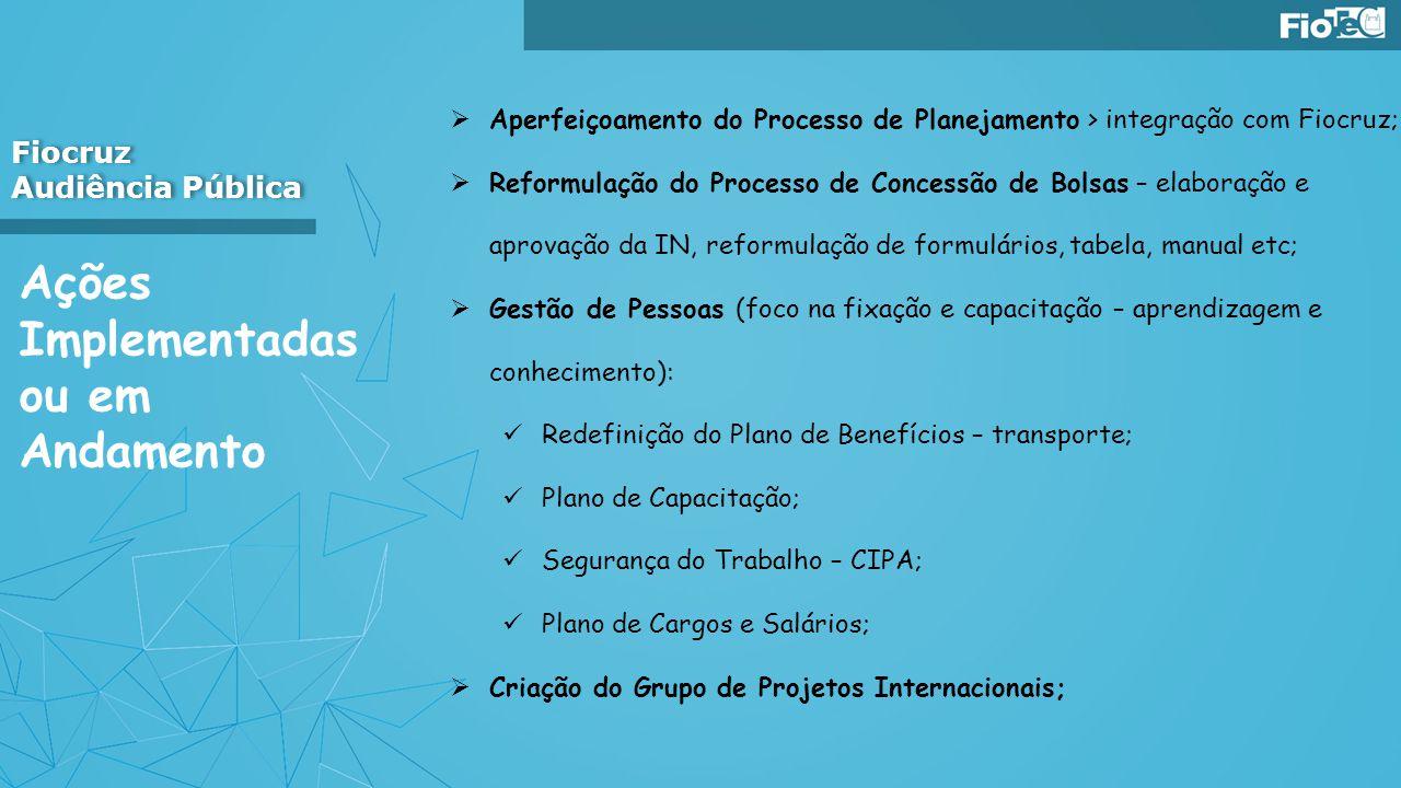 Fiocruz Audiência Pública Fiocruz Audiência Pública Aperfeiçoamento do Processo de Planejamento > integração com Fiocruz; Reformulação do Processo de