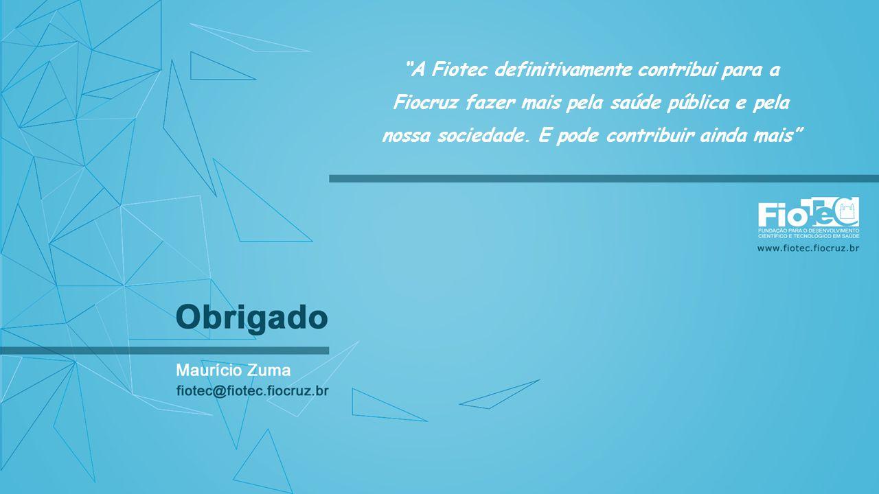 A Fiotec definitivamente contribui para a Fiocruz fazer mais pela saúde pública e pela nossa sociedade. E pode contribuir ainda mais