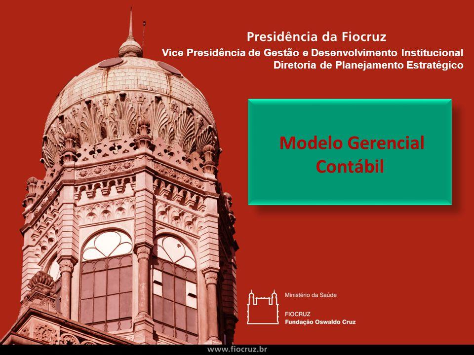 Modelo Gerencial Contábil Vice Presidência de Gestão e Desenvolvimento Institucional Diretoria de Planejamento Estratégico
