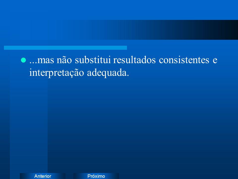 PróximoAnterior...mas não substitui resultados consistentes e interpretação adequada.