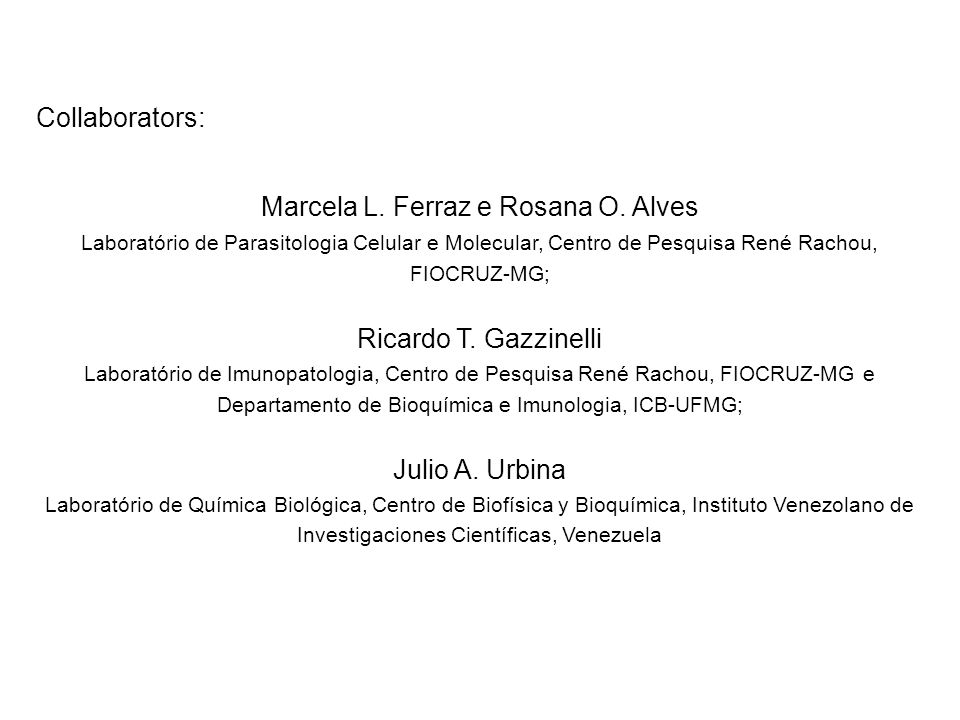 Collaborators: Marcela L. Ferraz e Rosana O.