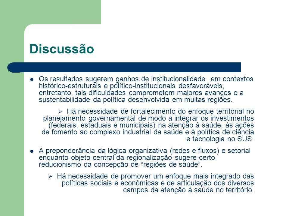 Os resultados sugerem ganhos de institucionalidade em contextos histórico-estruturais e político-institucionais desfavoráveis, entretanto, tais dificu