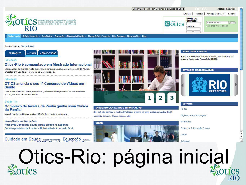 Otics-Rio: página inicial