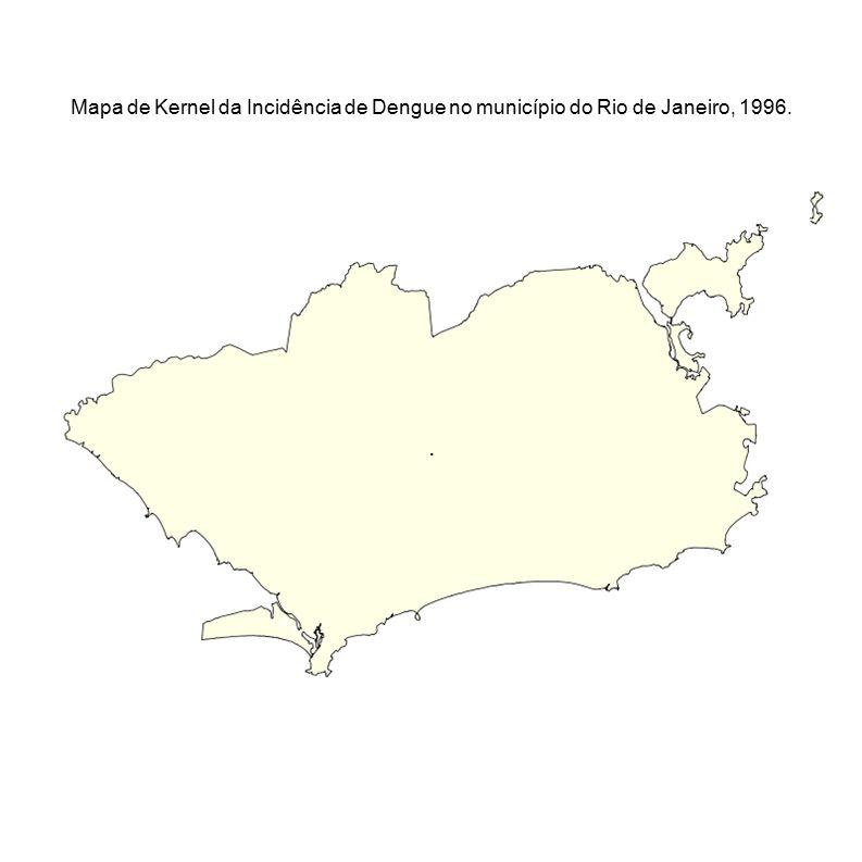 . Mapa de Kernel da Incidência de Dengue no município do Rio de Janeiro, 1996.