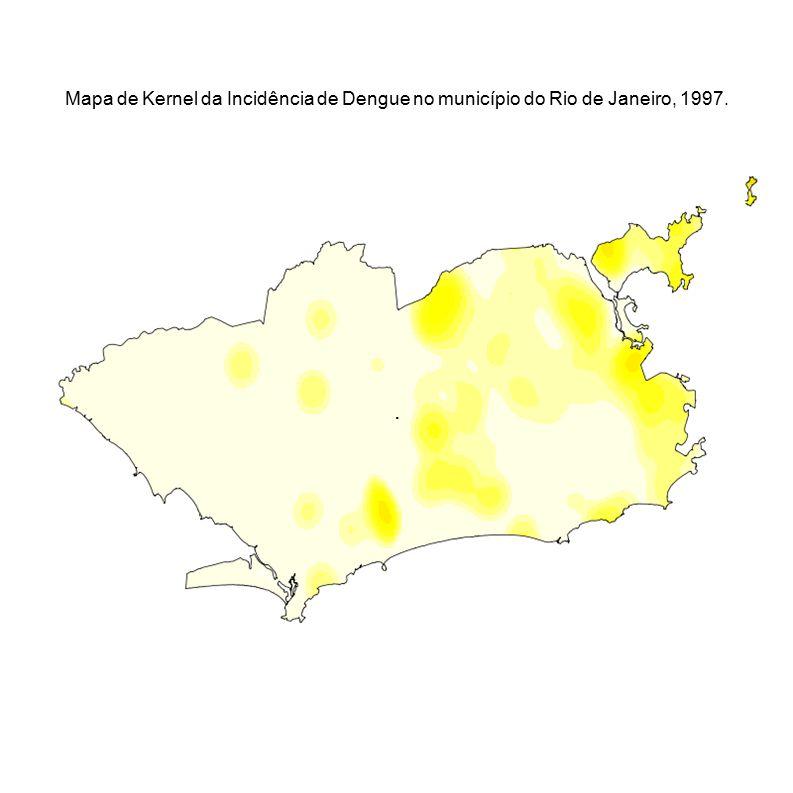 . Mapa de Kernel da Incidência de Dengue no município do Rio de Janeiro, 1997.