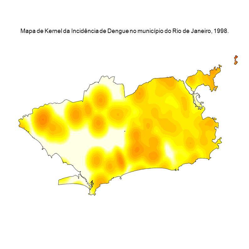 . Mapa de Kernel da Incidência de Dengue no município do Rio de Janeiro, 1998.