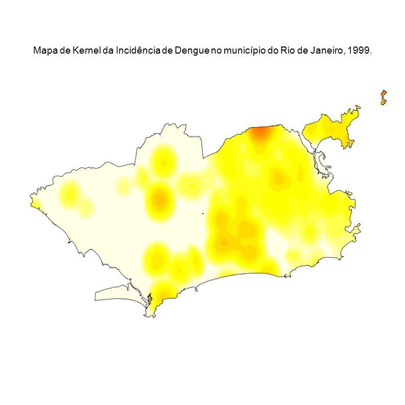 . Mapa de Kernel da Incidência de Dengue no município do Rio de Janeiro, 1999.