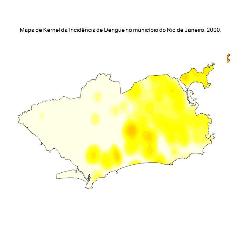 . Mapa de Kernel da Incidência de Dengue no município do Rio de Janeiro, 2000.