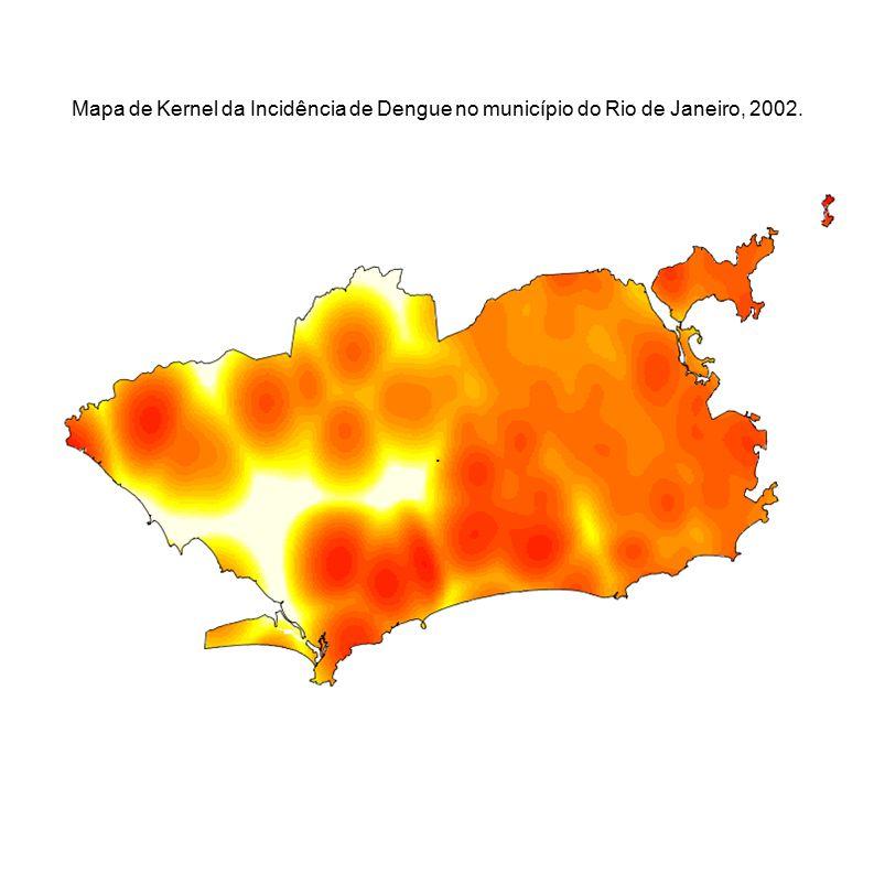 . Mapa de Kernel da Incidência de Dengue no município do Rio de Janeiro, 2002.