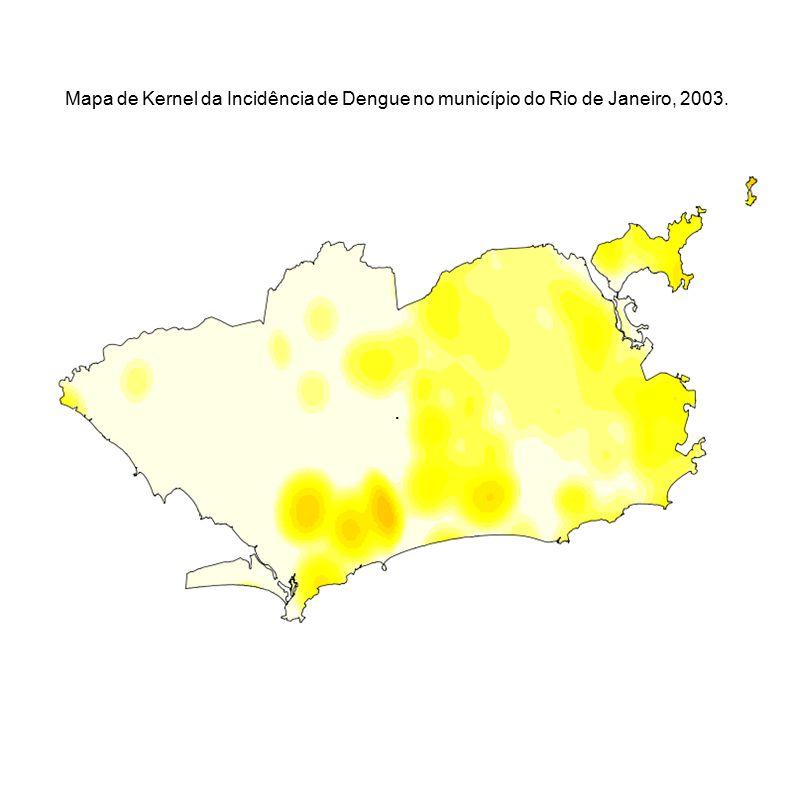 . Mapa de Kernel da Incidência de Dengue no município do Rio de Janeiro, 2003.