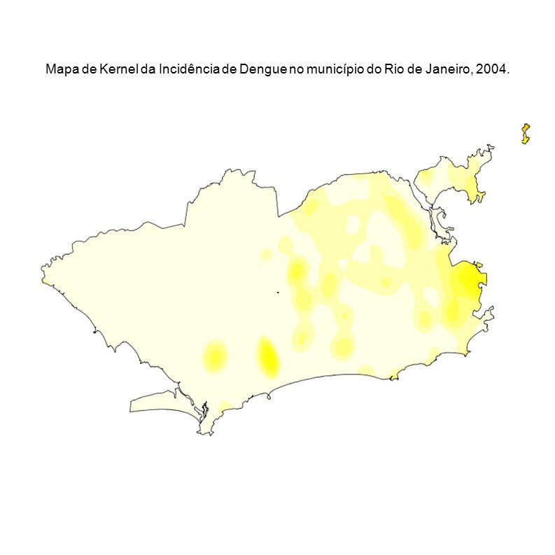 . Mapa de Kernel da Incidência de Dengue no município do Rio de Janeiro, 2004.