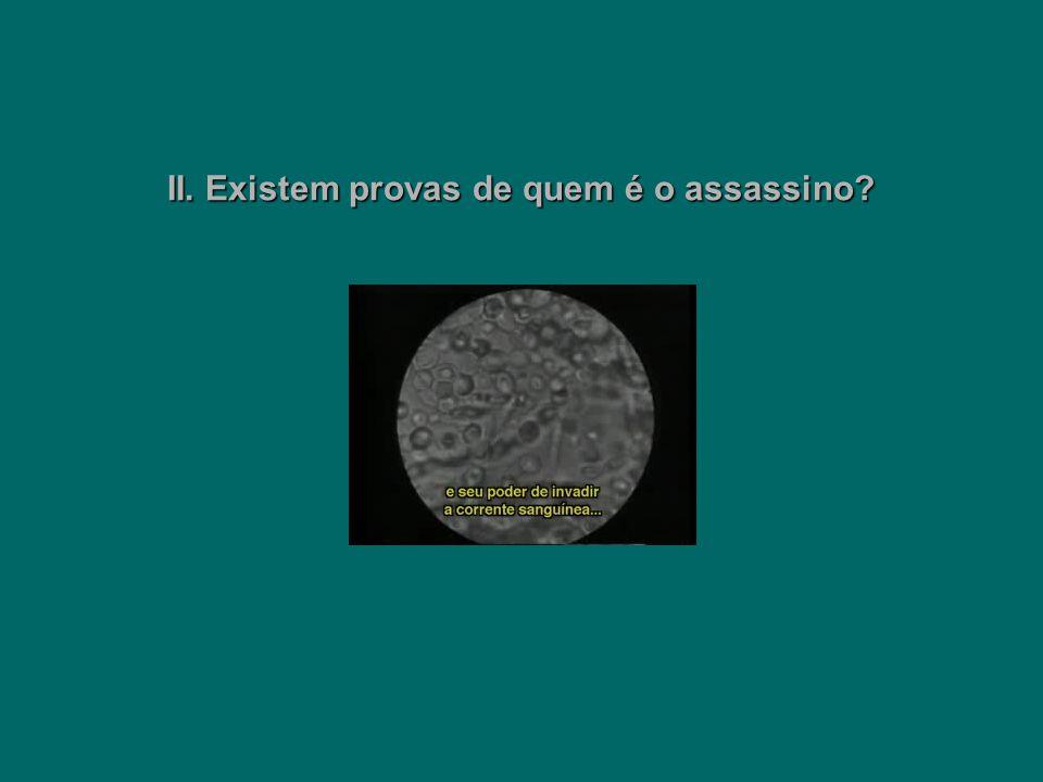 II. Existem provas de quem é o assassino?