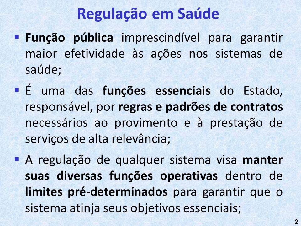 2 Função pública imprescindível para garantir maior efetividade às ações nos sistemas de saúde; É uma das funções essenciais do Estado, responsável, p