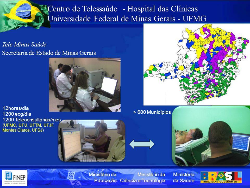 Ministério da Saúde Ministério da Ciência e Tecnologia Ministério da Educação Centro de Telessaúde - Hospital das Clínicas Universidade Federal de Min