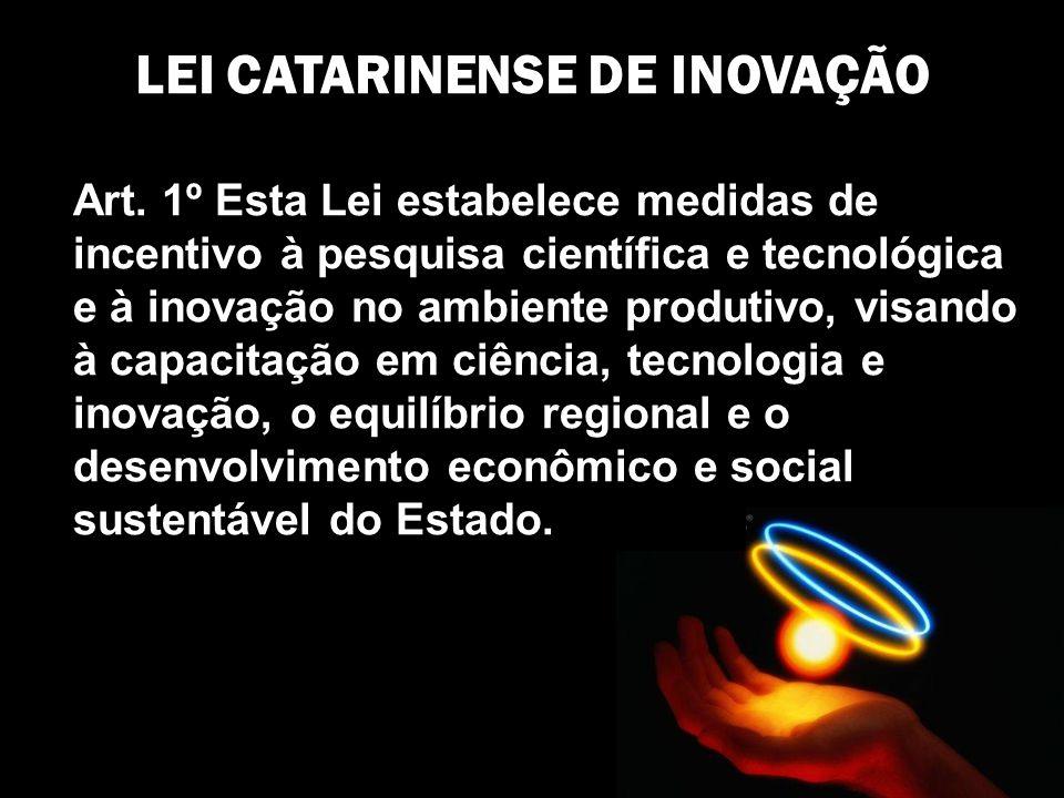 Art. 1º Esta Lei estabelece medidas de incentivo à pesquisa científica e tecnológica e à inovação no ambiente produtivo, visando à capacitação em ciên