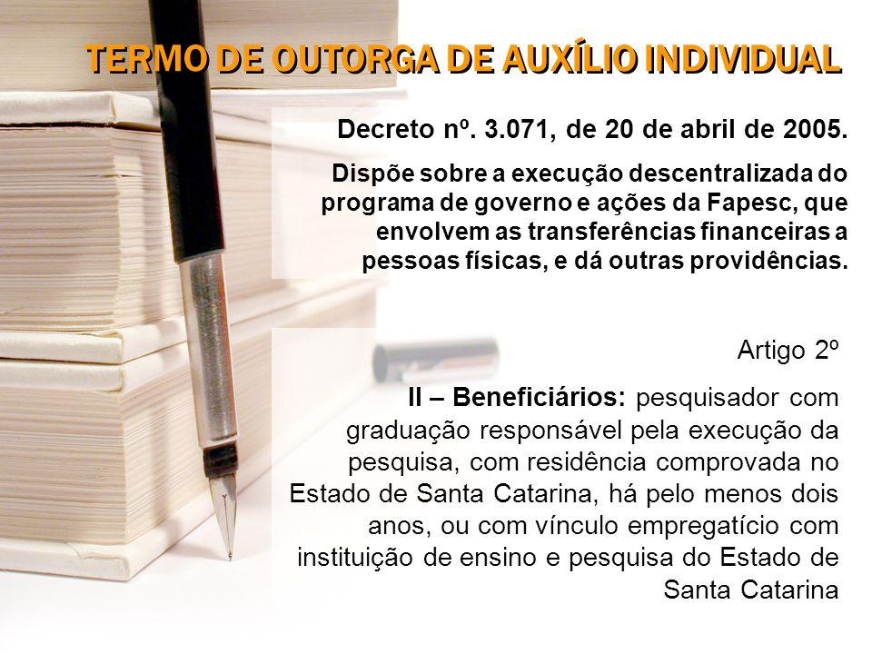 Decreto nº. 3.071, de 20 de abril de 2005.