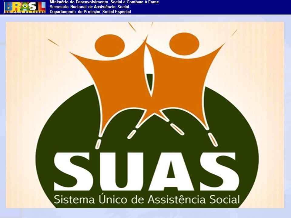 Ministério do Desenvolvimento Social e Combate à Fome Secretaria Nacional de Assistência Social Departamento de Proteção Social Especial