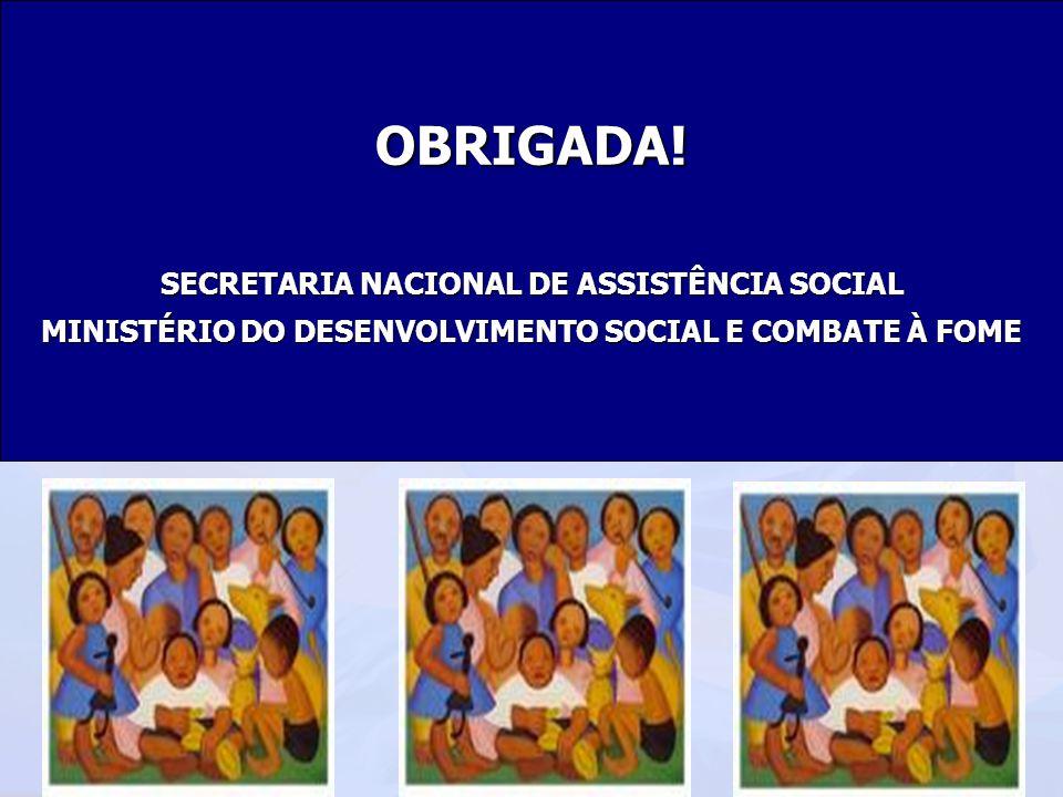 Ministério do Desenvolvimento Social e Combate à Fome Secretaria Nacional de Assistência Social Departamento de Proteção Social EspecialOBRIGADA! SECR