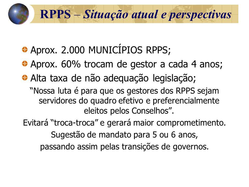 Aprox. 2.000 MUNICÍPIOS RPPS; Aprox.