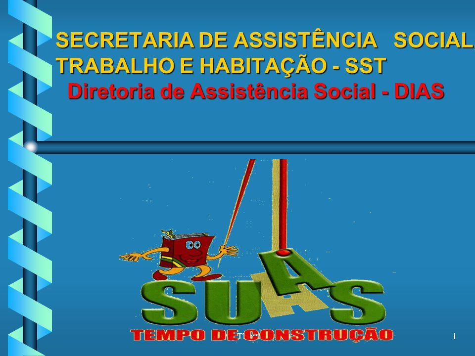 M. Thiollent, 20021 SECRETARIA DE ASSISTÊNCIA SOCIAL, TRABALHO E HABITAÇÃO - SST Diretoria de Assistência Social - DIAS